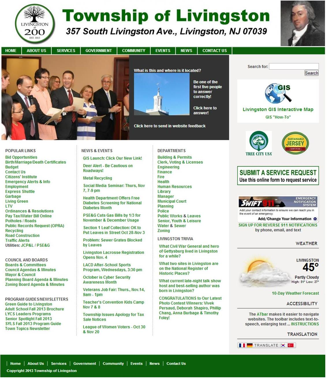 Livingston Township main website