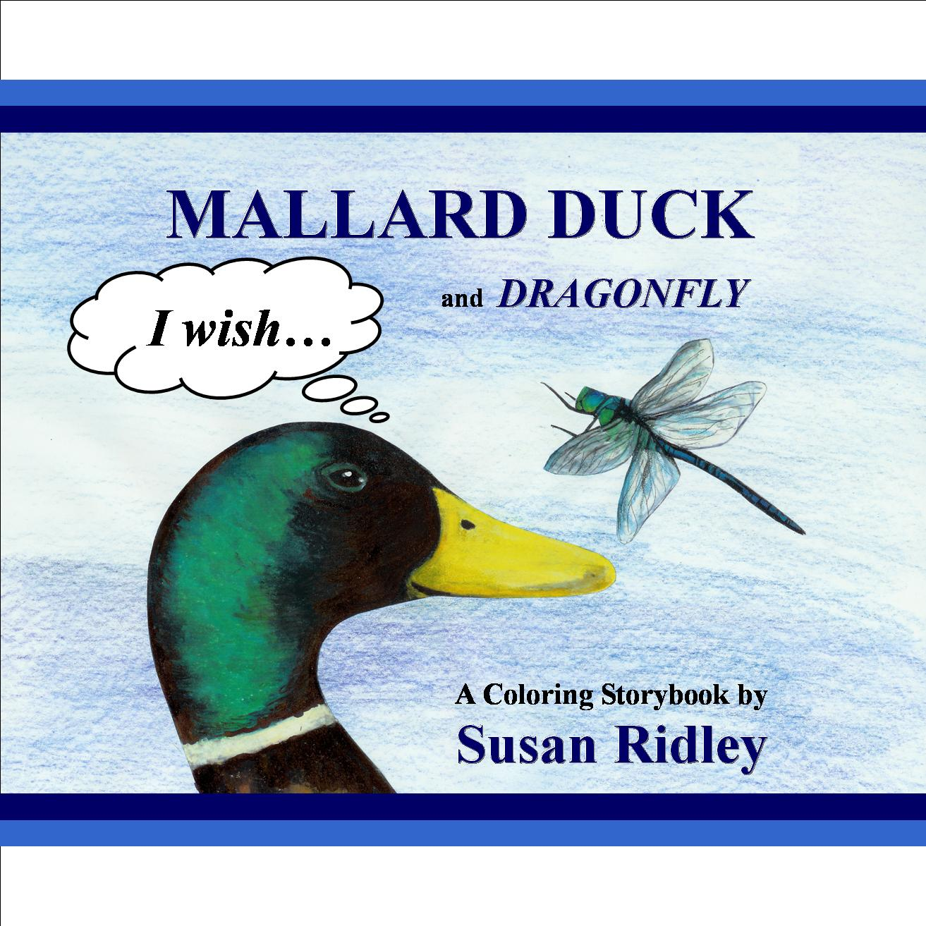 Mallard Duck and Dragonfly, Front Cover